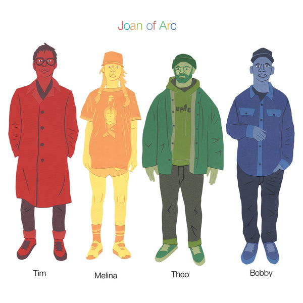 Joan of Arc - Tim Melina Theo Bobby (LP - Sky Blue Vinyl) Joyful Noise Recordings