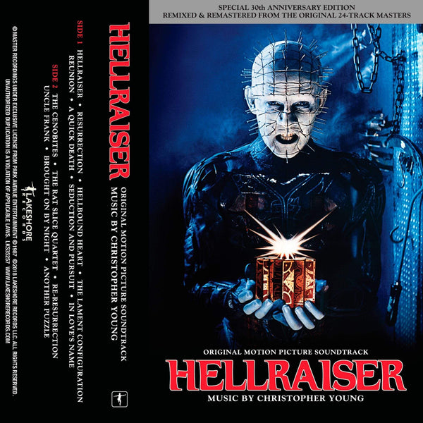 Christopher Young - Hellraiser: Original Soundtrack (Cassette) Lakeshore Records