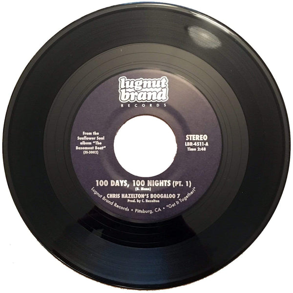 "Chris Hazelton's Boogaloo 7 - 100 Days, 100 Nights Pt. 1&2 (7"") Lugnut Brand Records"