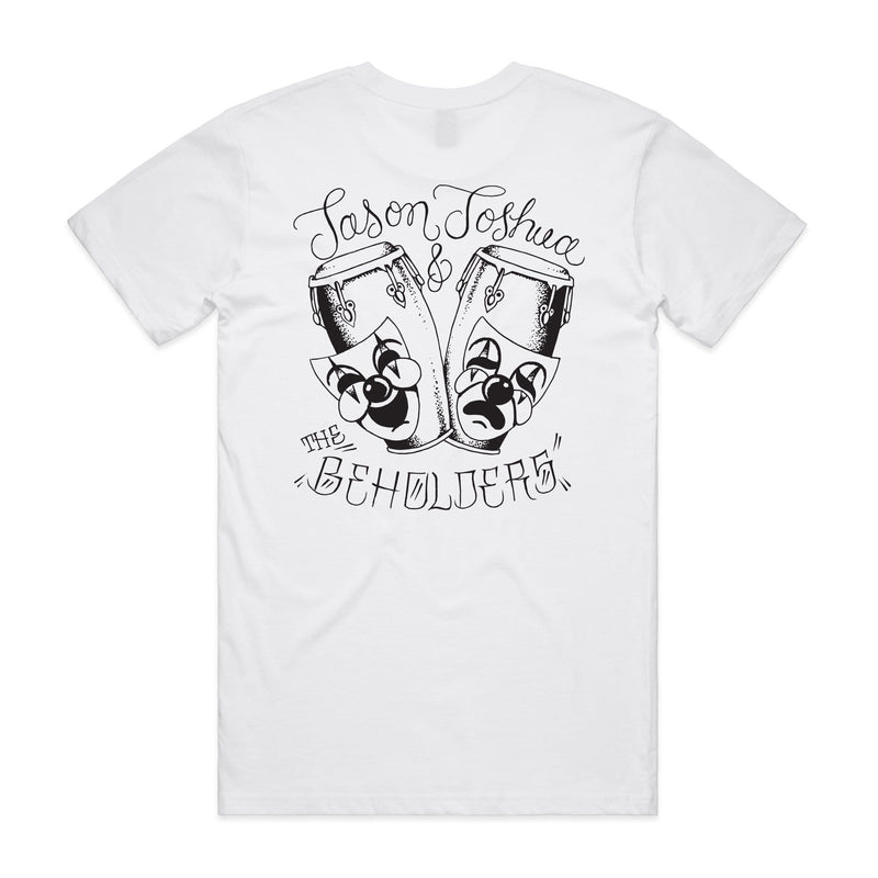 Jason Joshua & The Beholders - Alegría y Tristeza (White T-Shirt) Mango Hill Records