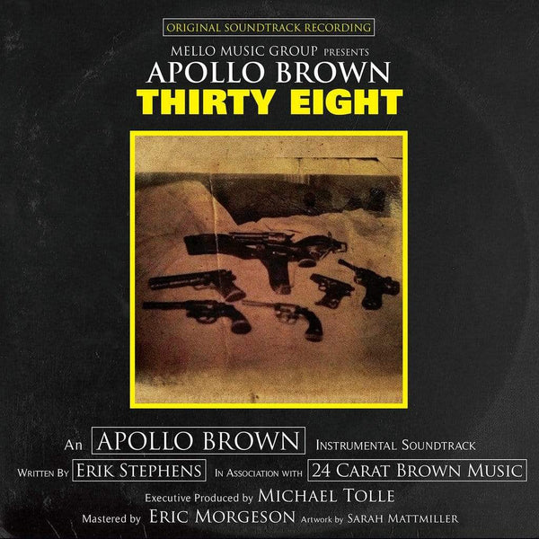 "Apollo Brown - Thirty Eight (LP - Yellow & Black Splatter + Bonus 7"") Mello Music Group"