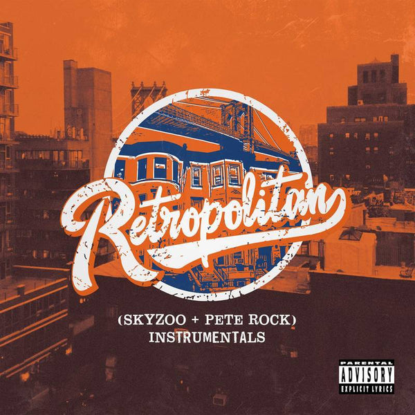 Skyzoo & Pete Rock - Retropolitan Instrumentals (LP - Clear Orange/White Splatter Vinyl) Mello Music Group