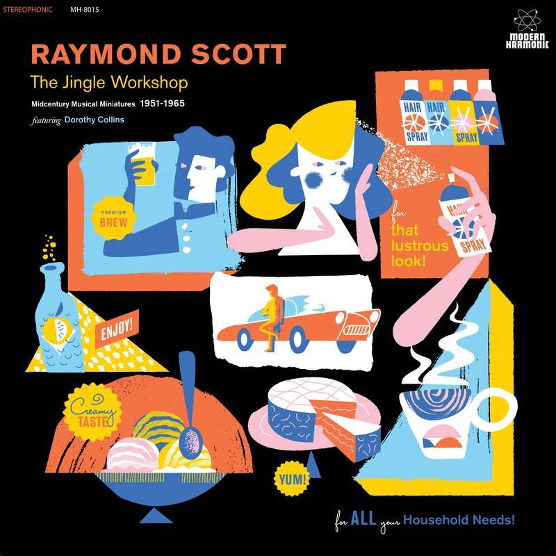 Raymond Scott - The Jingle Workshop: Midcentury Musical Miniatures 1951-1965 (2xLP - Blue & Gold Vinyl) Modern Harmonic