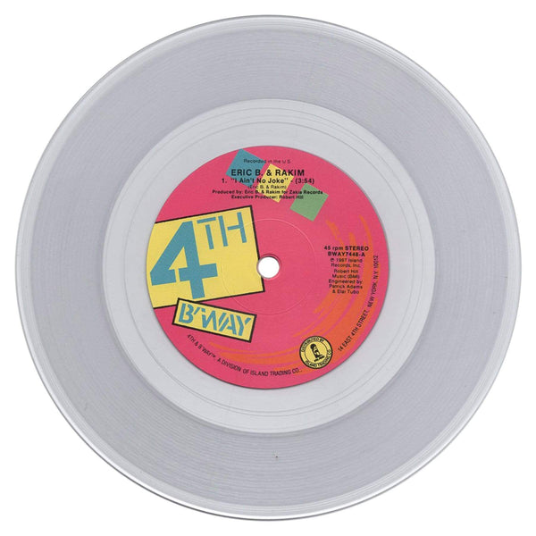 "Eric B & Rakim - I Know You Got Soul & I Ain't No Joke b/w Eric B. Is On The Cut (2x7"" Bundle - Fat Beats Exclusive Clear Vinyl) Mr. Bongo"