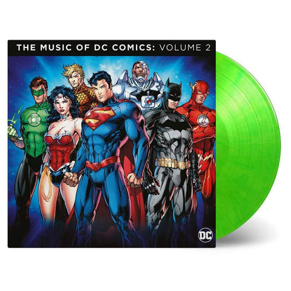 Various Artists - DC Comics, The Music Of: Volume 2 Soundtrack (2xLP - Lime Green Vinyl 180 Gram Vinyl) Music On Vinyl