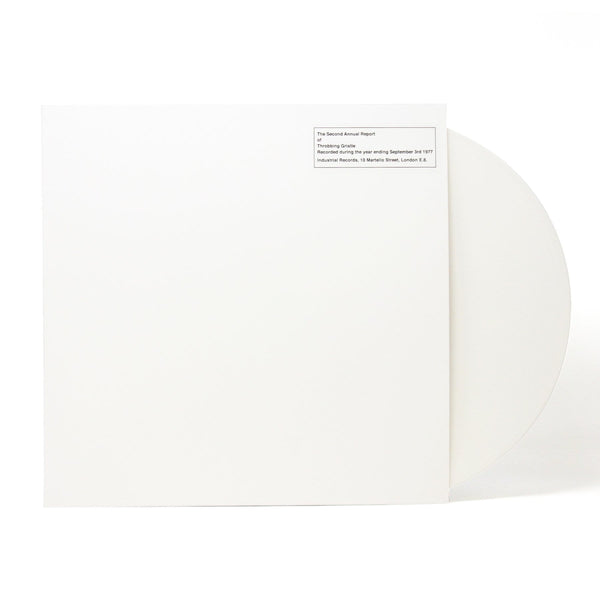 Throbbing Gristle - The Second Annual Report (LP - White Vinyl) Mute