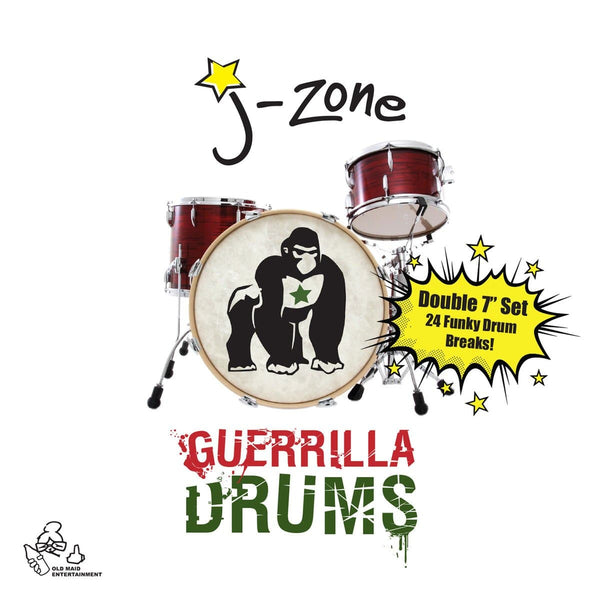 "J-Zone - Guerrilla Drums (2x7"") Old Maid Entertainment"