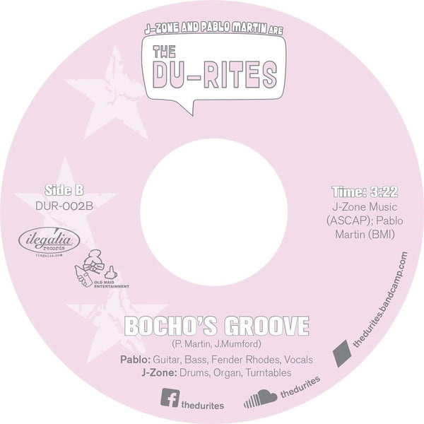 "J-Zone & Pablo Martin are the Du-Rites - Bite It b/w Bocho's Groove (7"") Old Maid Entertainment"