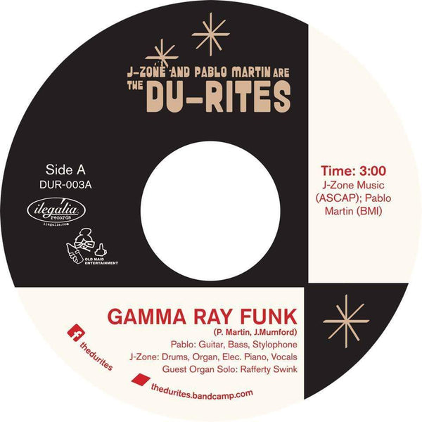 "The Du-Rites (J-Zone & Pablo Martin) - Gamma Ray Funk b/w Fish Sammich (7"") Old Maid Entertainment"