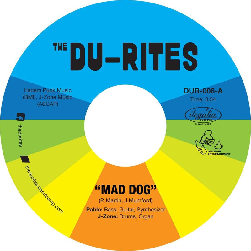 "The Du-Rites (J-Zone & Pablo Martin) - Mad Dog b/w Cheap Cologne (7"") Old Maid Entertainment"
