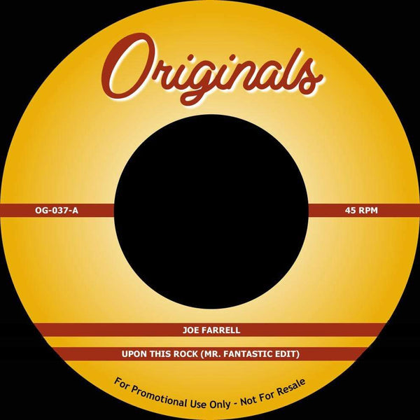 "Joe Farrell / The Artifacts - Upon This Rock b/w Whassup Now Muthafucka? (7"") Originals"