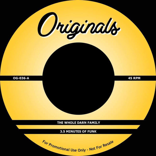 "The Whole Darn Family/EPMD - 3.5 Minutes Of Funk b/w It's My Thing (7"") Originals"