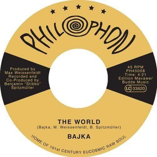 "Bajka - The World b/w Invisible Joy (7"") Philophon"