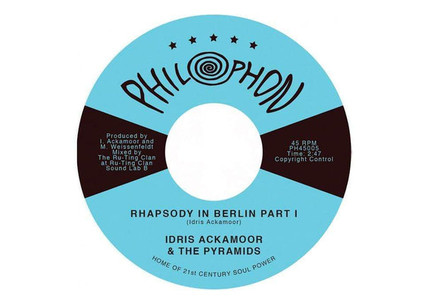 "Idris Ackamoor & The Pyramids - Rhapsody In Berlin Part 1 b/w Part 2 (7"") Philophon"