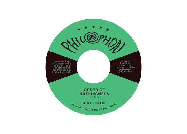 "Jimi Tenor - Order Of Nothingness b/w Tropical Eel (7"") Philophon"