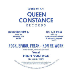 "High Voltage - Rock, Spank, Freak (KON Rework) b/w Dance Freak (Chain Reaction Re-Freak) (12"" - Import) Queen Constance Records"