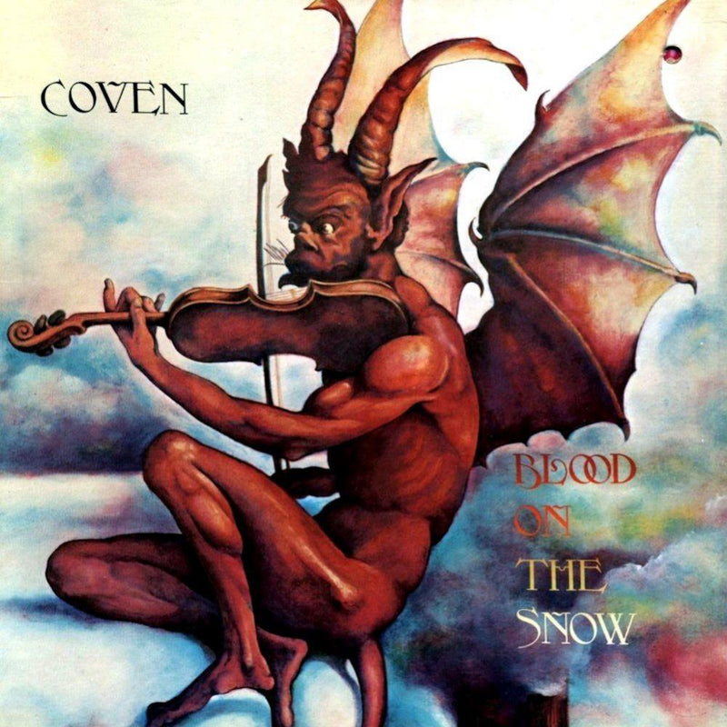 "Coven - Blood on the Snow (Red & White ""Blood on the Snow"" Vinyl Edition) (LP) Real Gone Music"