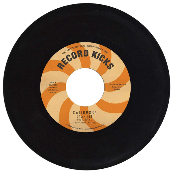 "Calibro 35 - Stan Lee feat. Illa J b/w Stan Lee Instrumental (7"") Record Kicks"