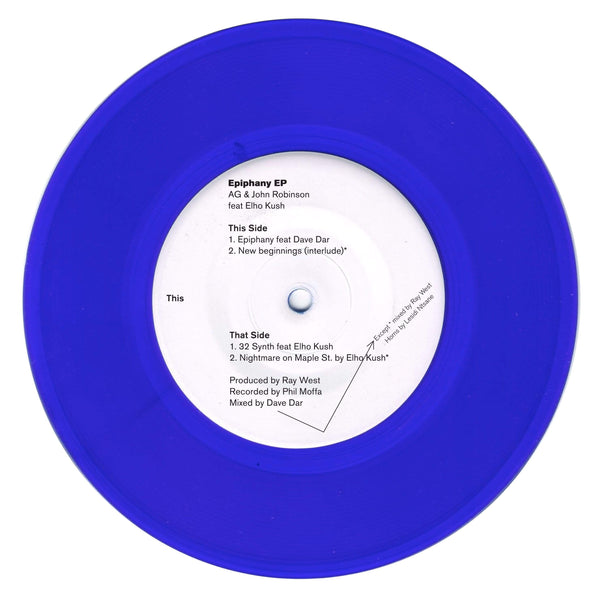 "AG & John Robinson - Epiphany EP (7"" - Blue Vinyl) Red Apples 45"