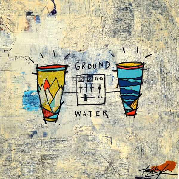 Blu & Damu The Fudgemunk - Ground & Water (Blue Vinyl LP) Redefinition Records