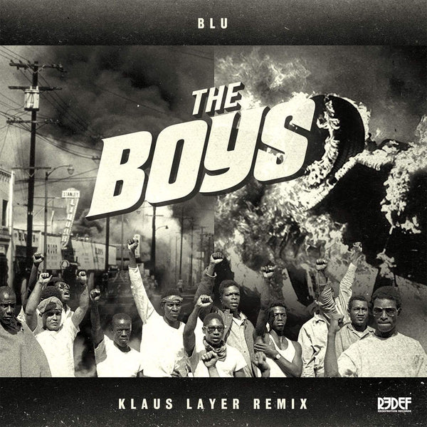 "Klaus Layer & Blu - The Boys (Remix) (7"" - Clear/Black Splatter) Redefinition Records"