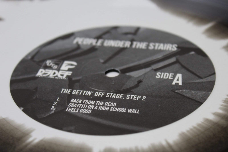 People Under The Stairs - The Gettin' Off Stage, Step 2 (EP - Black & White Blended Vinyl) Redefinition Records