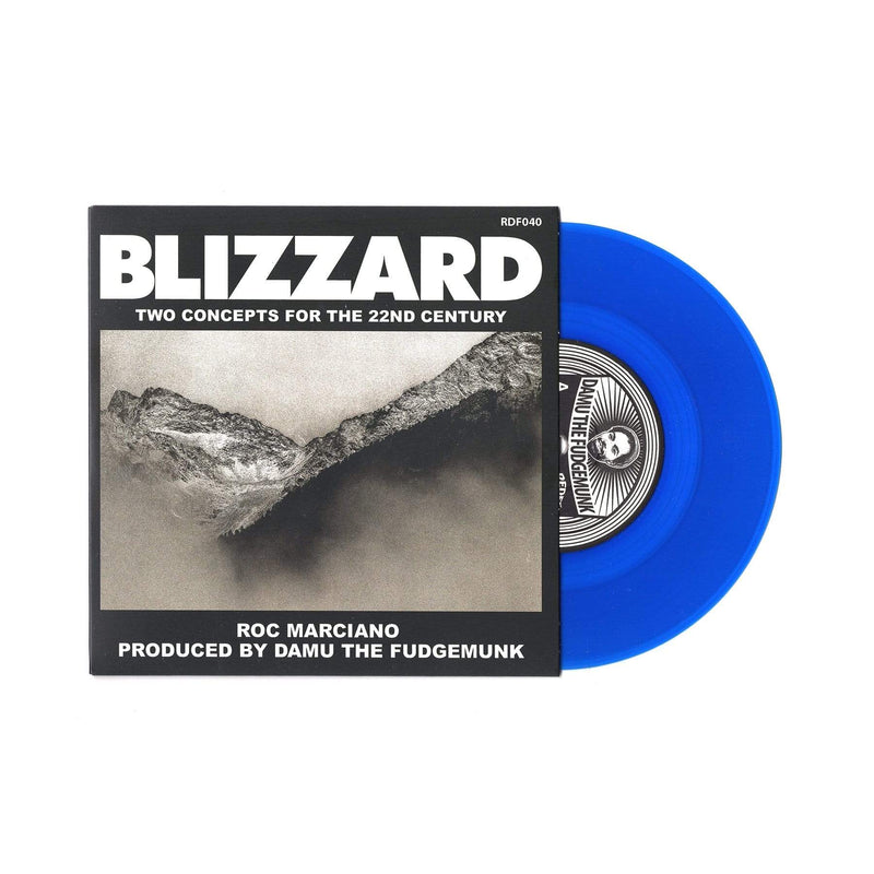 "Roc Marciano x Damu The Fudgemunk - Blizzard (Blue Vinyl 7"") Redefinition Records"