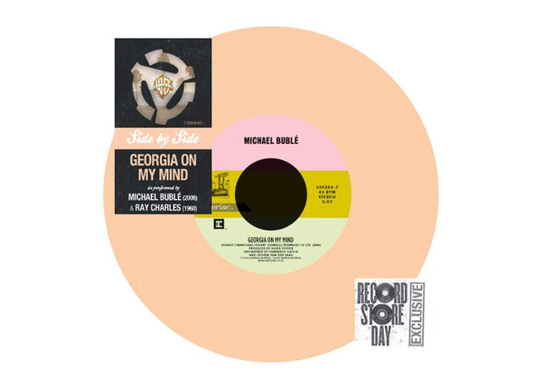 "Ray Charles/Michael Buble - Georgia On My Mind (7"" - ""Georgia Peach"" Colored Vinyl) Reprise"