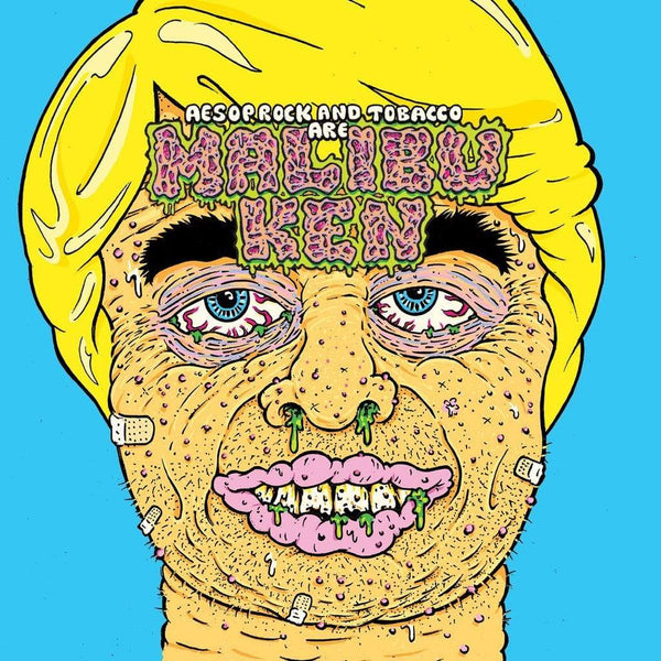 Aesop Rock & TOBACCO - Malibu Ken (LP - Blue Vinyl + Mask) Rhymesayers