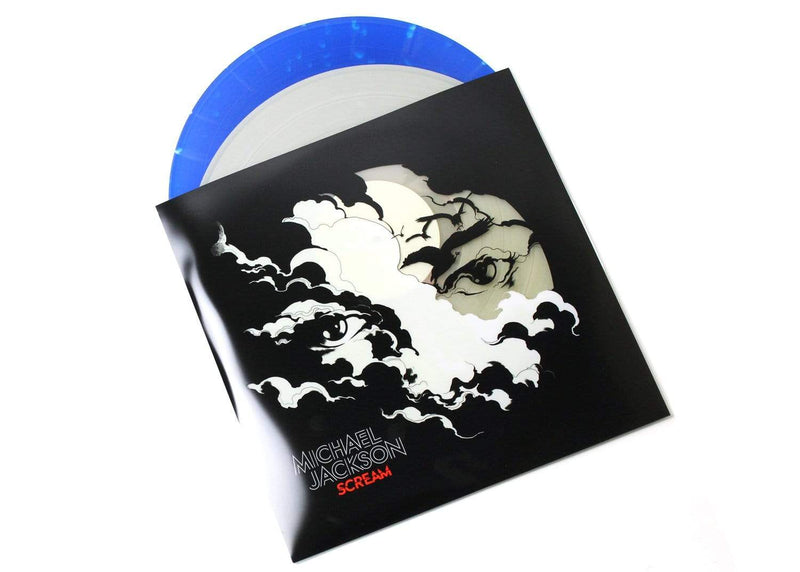 Michael Jackson - SCREAM (2xLP - Glow in the Dark/Blue Splatter Vinyl + Poster + Download Card) Sony Legacy