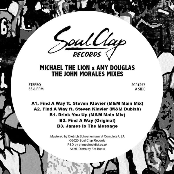 "Michael The Lion & Amy Douglas - Michael The Lion X Amy Douglas (The John Morales Mixes) (12"") Soul Clap Records"