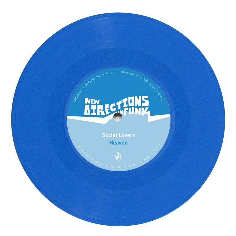 "Social Lovers & Adam Chini - New Directions In Funk Vol. 5 (7"" - Blue Vinyl) Soul Clap Records"