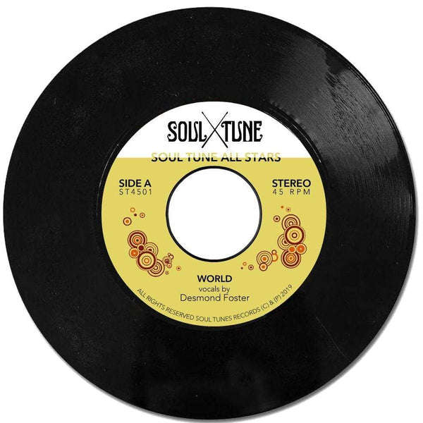 "Soul Tune Allstars - World b/w Natural Feeling (7"") Soul Tune Records"
