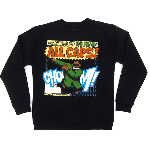 "MADVILLAIN ""ALL CAPS"" (Black Sweatshirt) Stones Throw"