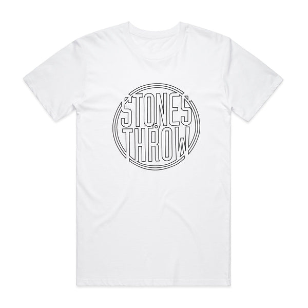 Stones Throw Outline Logo (White Shirt) Stones Throw
