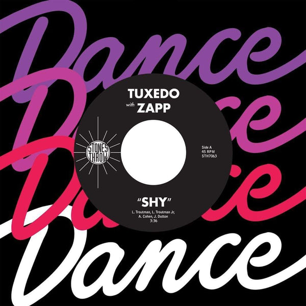 "Tuxedo - Shy (feat.  Zapp) (7"") Stones Throw"