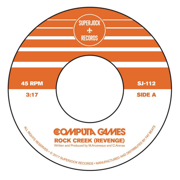 "Computa Games - Rock Creek (Revenge) b/w Apache 3000 (7"") Superjock Records"