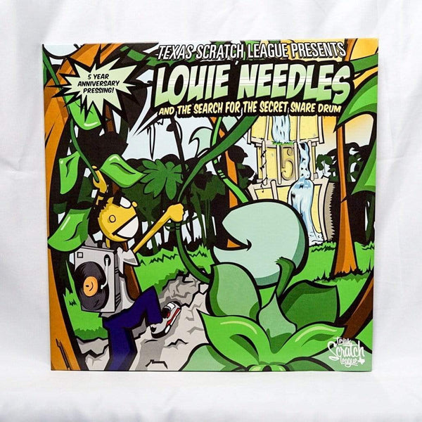 Texas Scratch League - Louie Needles and the Search for the Secret Snare Drum (Breaks LP - Colored Vinyl) Texas Scratch League