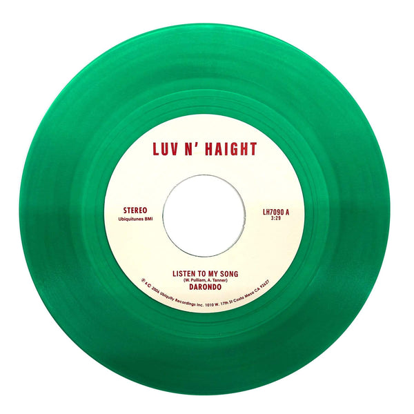 "Darondo - Listen To My Song b/w Didn't I (7"" - Green Vinyl - Fat Beats Exclusive) Ubiquity Recordings"