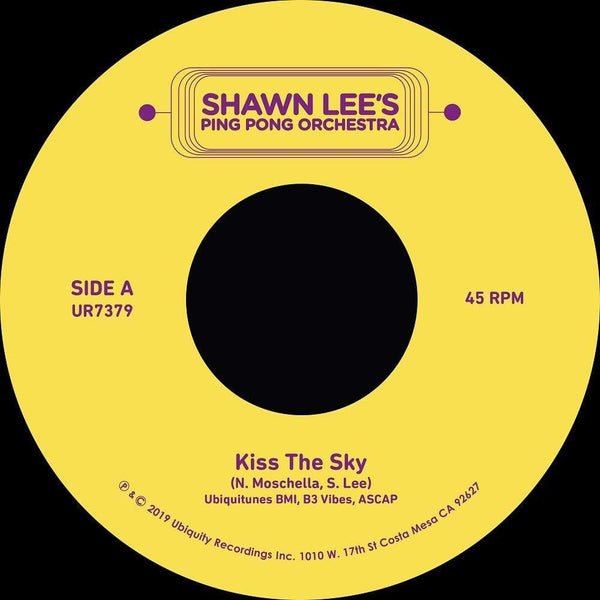 "Shawn Lee - Kiss The Sky (7"") Ubiquity Recordings"