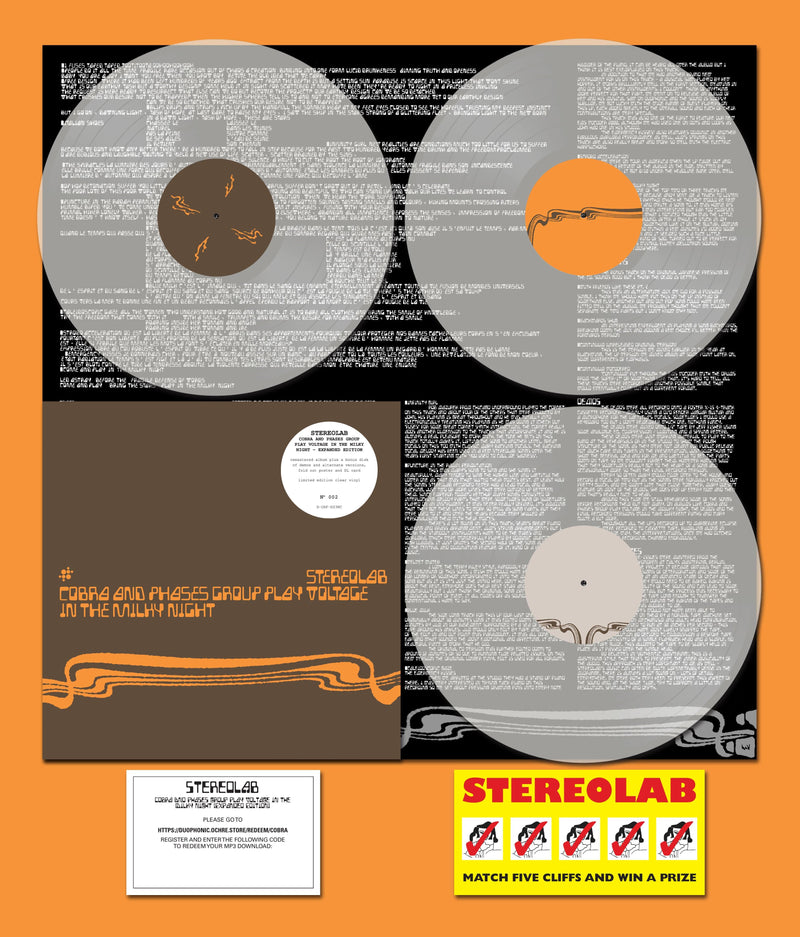 Stereolab - Cobra And Phases Group Play Voltage In The Milky Night: Expanded Edition (3xLP - Limited Clear Vinyl) Warp Records/Duophonic