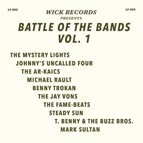 V/A - Wick Records Presents: Battle of the Bands, Vol. 1 (LP - Black Swirl Vinyl) Wick Records