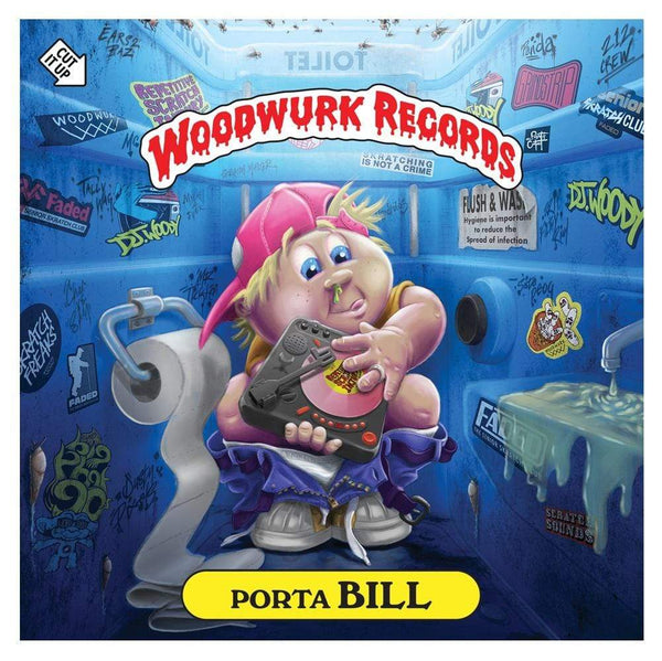 "DJ Woody - Porta Bill (7"" - Dolphin Blue Vinyl) Woodwurk"