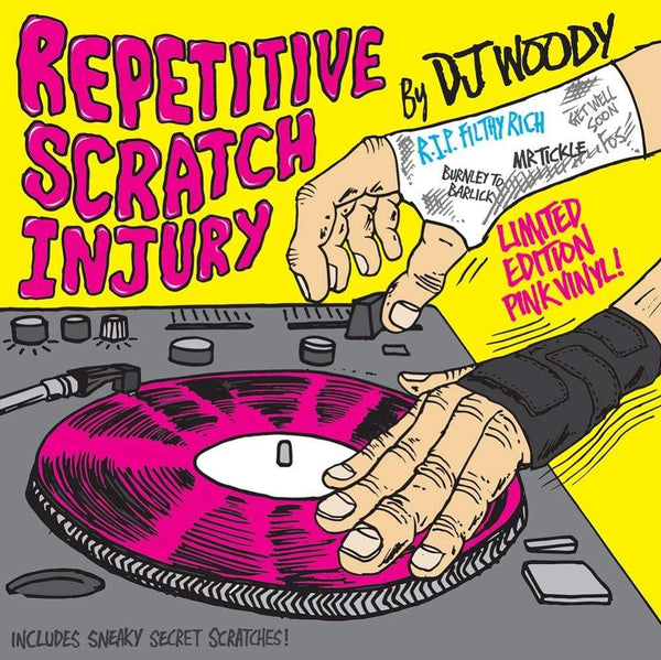 "DJ Woody - Repetitive Scratch Injury (7"" - Pink Vinyl) Woodwurk"