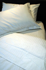 250tc Single Self Stripe Fitted Sheet
