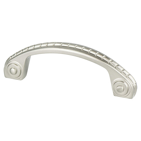 Advantage Plus Four 3 inch CC Brushed Nickel Roped Pull