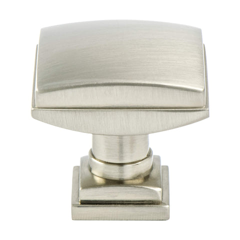 Tailored Traditional Brushed Nickel Knob - This knob has a tooth on the bottom.
