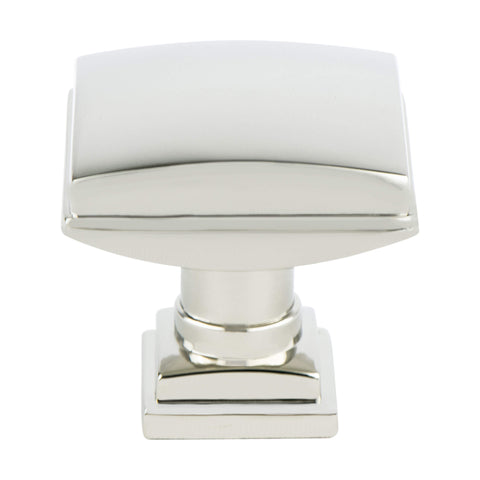 Tailored Traditional Polished Nickel Knob - This knob has a tooth on the bottom.