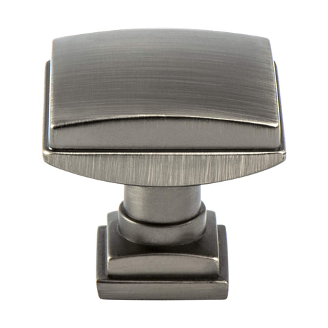 Tailored Traditional Vintage Nickel Knob - This knob has a tooth on the bottom.