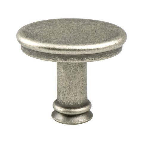 Dierdra Weathered Nickel Knob - This knob has a tooth on the bottom.